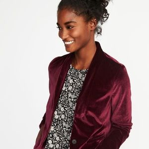 Old Navy Burgundy Velvet Blazer